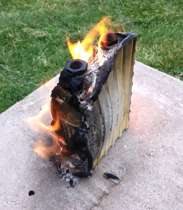 Can a lithium iron phosphate (LFP) battery burn?